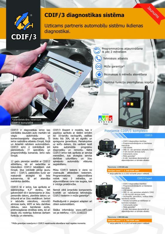 CDIF/3 diagnostikas sistēma