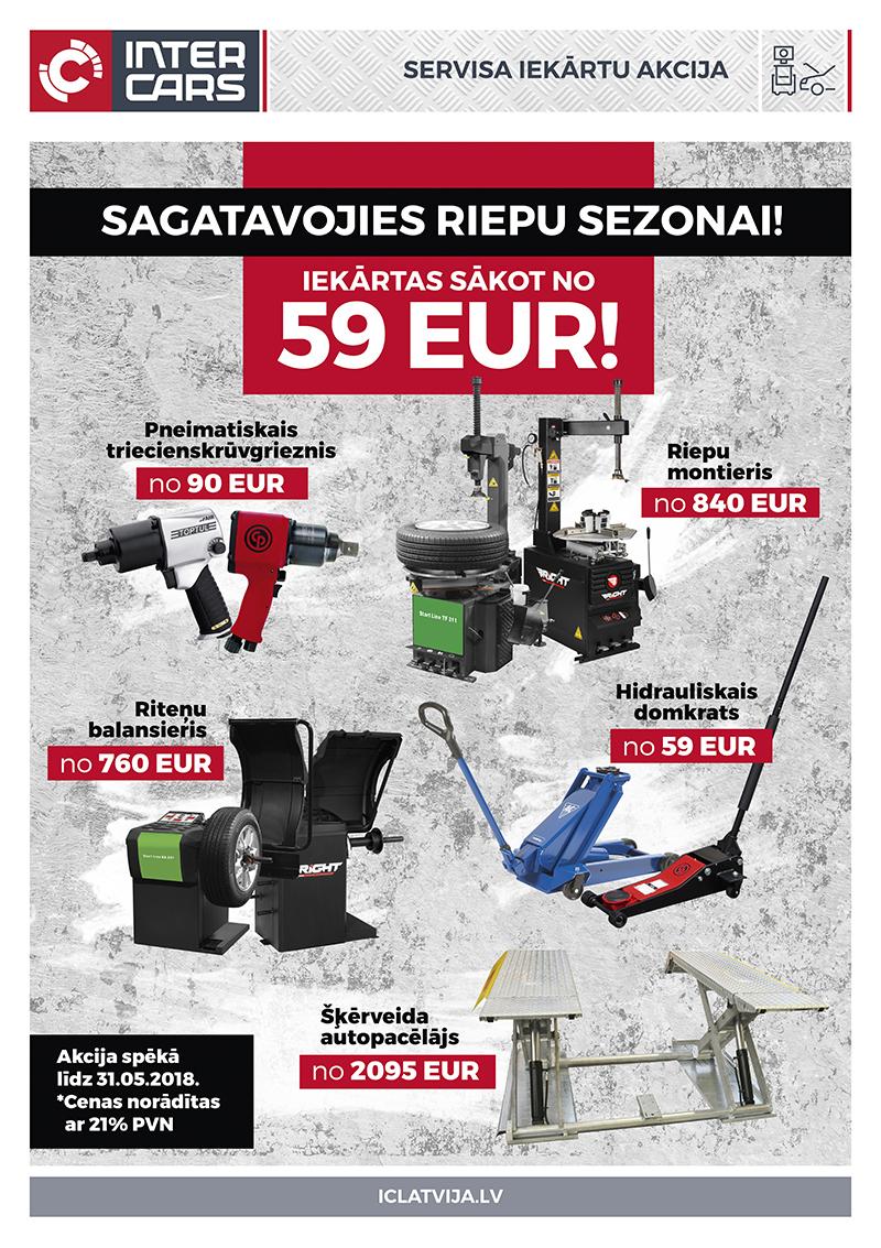 Sagatavojies riepu sezonai! Iekārtas sākot no 59 eur!