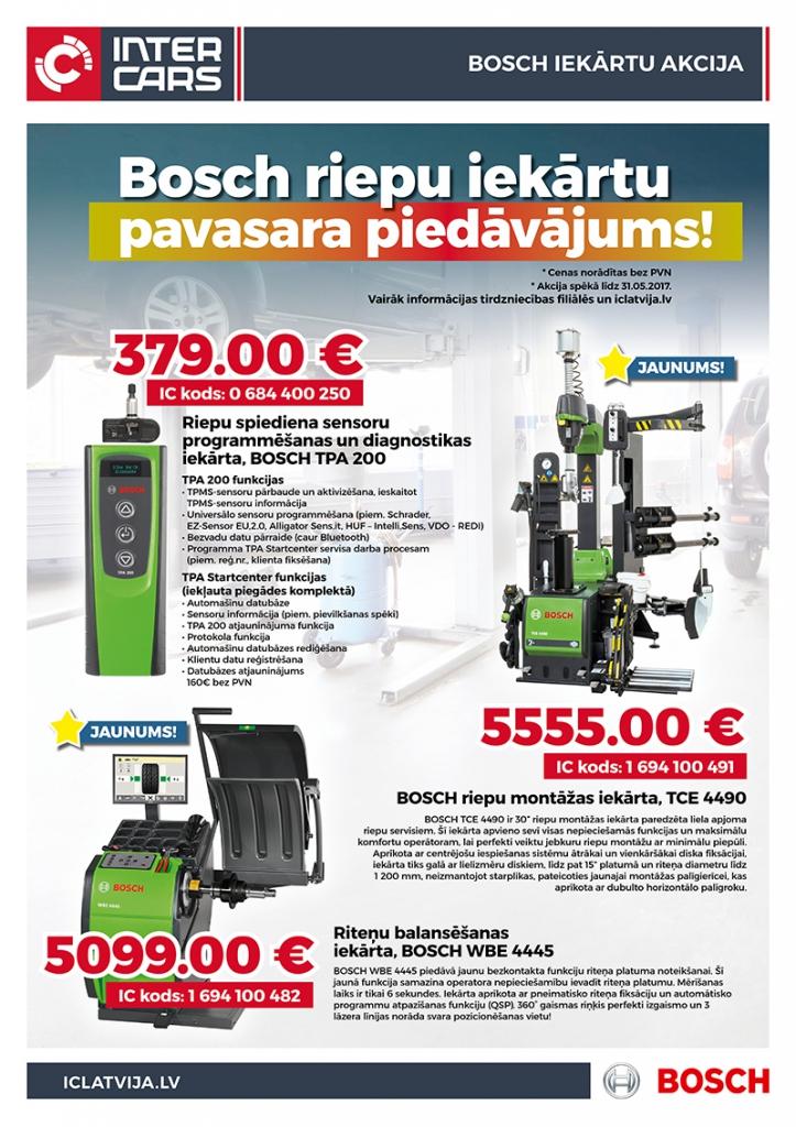 Bosch riepu iekārtu pavasara piedāvājums!